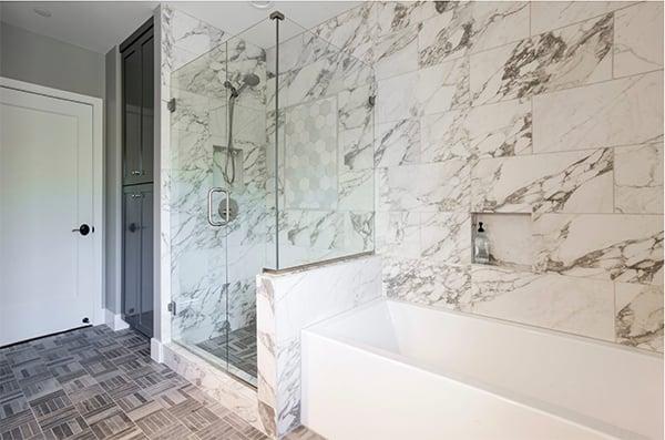 Marble Bathroom in Lake Oswego Project