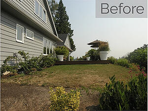 Outdoor remodel before lake oswego