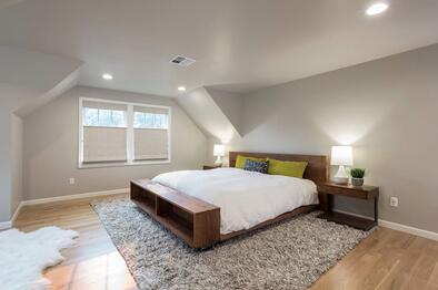 Cape Cod Master bedroom in Portland Oregon
